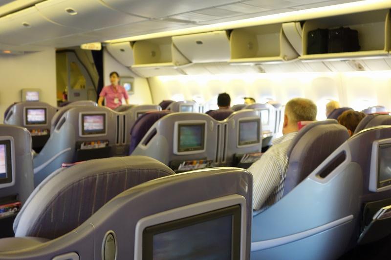 タイ航空 ビジネスクラス(TG217 バンコク スワンナプーム - プーケット)