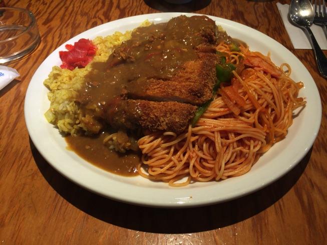 福岡市デカ盛りの名店 HANAMARU厨房でトルコライスに挑戦!!
