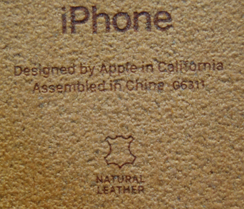 Cover leather mark