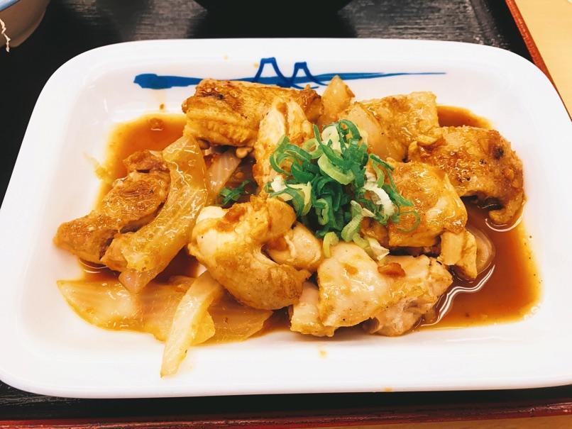 【松屋】鶏のバター醤油炒め定食 うまみ凝縮「残り汁」で、ごはんがススム!