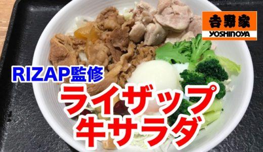 【吉野家】ライザップ牛サラダ 500円だから続けられる!ご飯抜きでも美味しさにコミット!